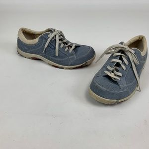 Simple Sneakers Tennis Shoes Blue Suede Comfort